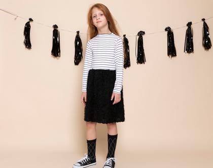 שמלת אירועים לילדות, ורוניק פסים, פרווה