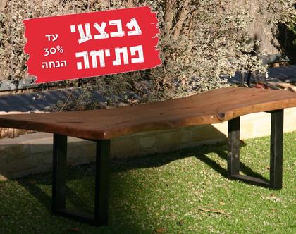 שולחן\ספסל לגינה - אקליפטוס אדום