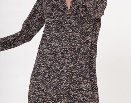 שמלת קיילי שחור בז'