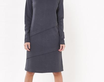 שמלת היילי אפור