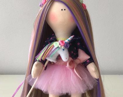 """בובה בעבודת יד לאספנים, למתנהת לילדותת, חד קרן """"נועה"""" - """"Magic Unicorn Doll """"Noah"""""""