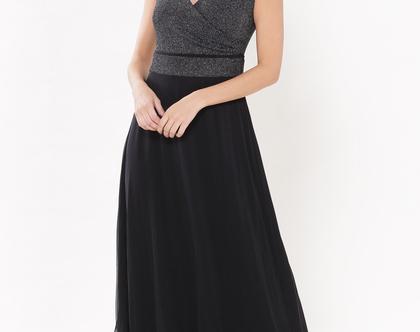 שמלת נינט מקסי שחור