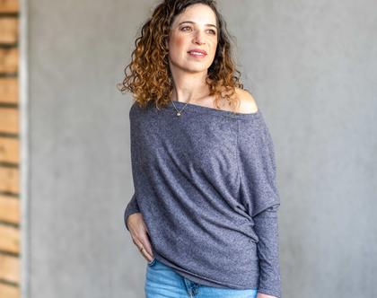 חולצת נשים יפה, חולצת נשים מידות S-XL, חולצה יפה ליום יום, חולצה יפה לעבודה, חולצה ארוכה, סריג חורף, סריג חרדל, חולצה סקסית 6009
