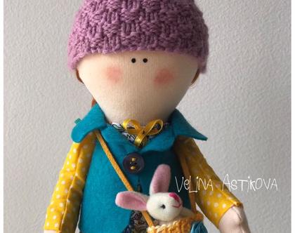 """בובה בעבודת יד לאספנים, למתנה, לילדות - Nature Doll """"Lily"""""""