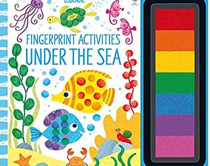 יצירה בטביעות אצבעות-מתחת לים