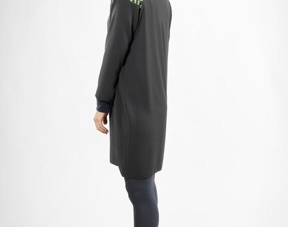 שמלת ג'ולייט אפורה.