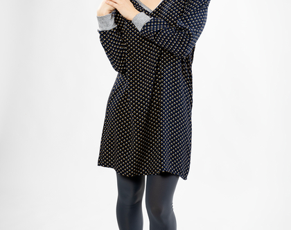 שמלת ג'ולייט הדפס מעוינים