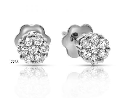 זוג עגילי יהלומים