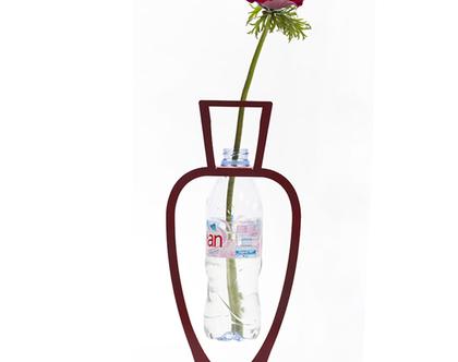 אגרטל פרחים, מחזור בקבוקים, מתנה אקולוגית, וזה לפרחים, ואזה לפרחים