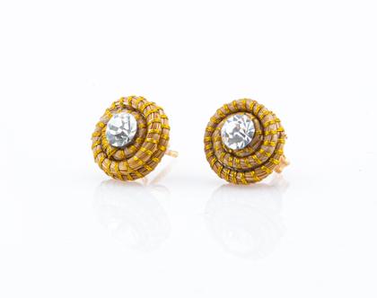 עגילי אריאנה, עגילים צמודים, קטנים מצמח הזהב