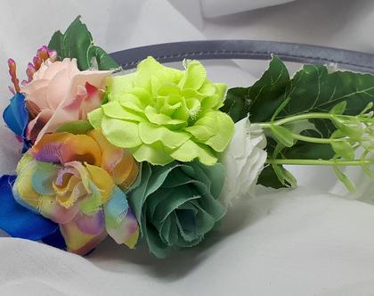 קשת פרחים יער | קשת פרחים | קשת לילדה | קשת פרחונית | תחפושת פיה | תחפושת לילדה | תחפושת לפורים | קשת מעוצבת [CLONE] [CLONE]