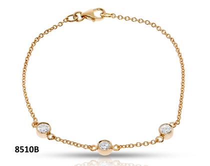 צמיד זהב עם יהלומים
