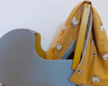 שמיכת חורף לתינוק\ שמיכת ניובורן\שמיכת עגלה \שמיכה מחממת לתינוק\ שמיכת פליז -דגם אריה