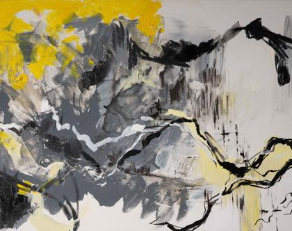 """""""שדה באפור צהוב"""" של האמנית גנית פורטוגלי"""