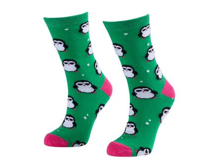 זוג גרביים בדיגום פינגווינים