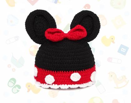 כובע מיני סרוג לתינוקת