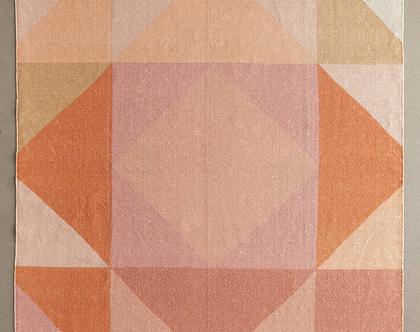 שטיח כותנה גיאומטרי צבעוני, שטיח כותנה צבעוני, שטיח גיאומטרי