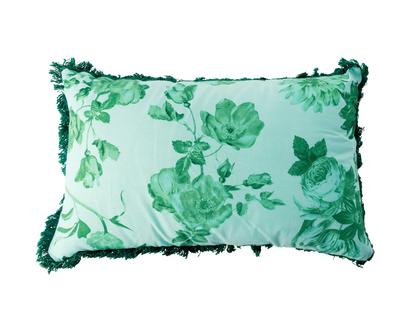 RICE DK | כרית מלבנית בהדפס ורדים ירוקים