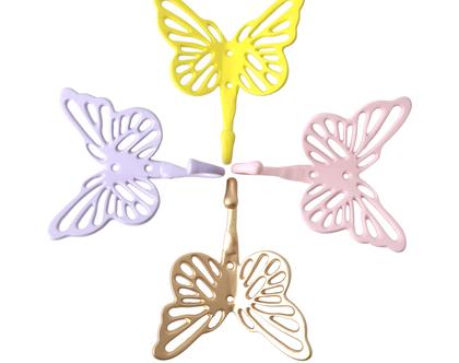 מתלה מתכת בצורת פרפר ב-4 צבעים