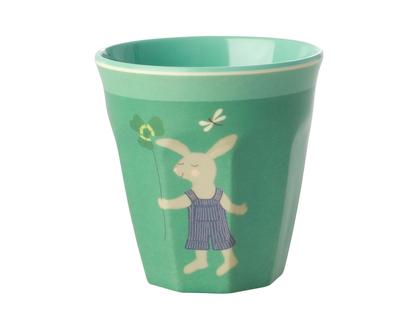 כוס מלמין לילדים ארנב ירוק