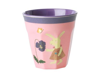 כוס מלמין לילדים ארנב ורוד
