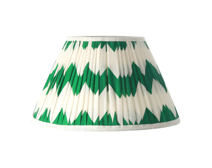 אהיל בד זיג זג ירוק לבן