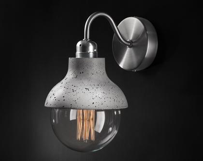 M422 קיר מנורת בטון אפור מנורת קיר בעבודת יד עיצוב מודרני
