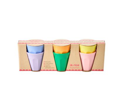 """סט 6 כוסות מלמין אספרסו צבעי """"LET'S SUMMER"""""""