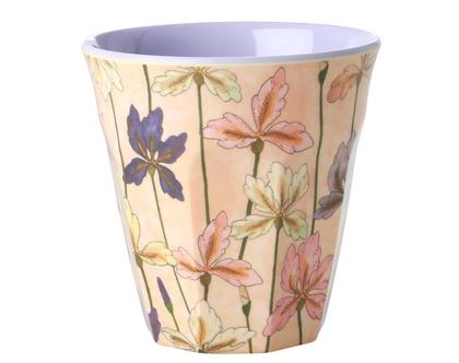 כוס מלמין טוטון בהדפס פרחי אירוס