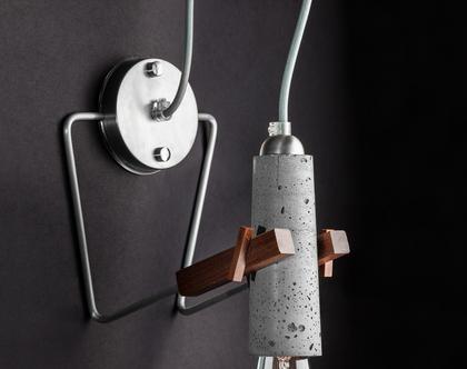 סוניה מנורת בטון אפור צמוד קיר עבודת יד עיצוב מודרני