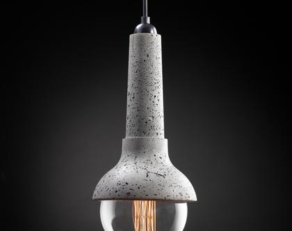 דאמיו מנורת בטון אפור מנורה בעבודת יד עיצוב מודרני
