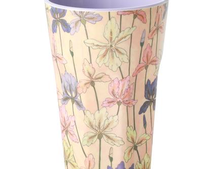 כוס מלמין לאטה הדפס פרחי אירוס