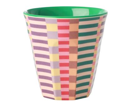 כוס מלמין טוטון בהדפס פסים קייצי