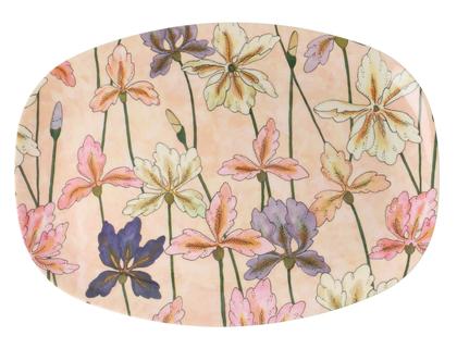 מגש מלמין בהדפס פרחי אירוס