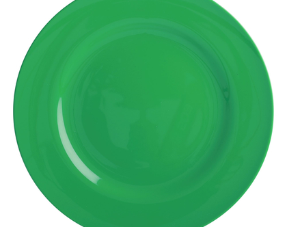 צלחת מלמין עיקרית ירוק יער