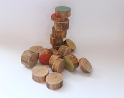 סט בולי עץ לילדים