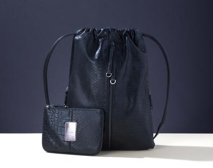תיק גב שחור לנשים, תיק גב נוח, תיק מעוצב ללא עור, צמחוני, טבעוני בעבודת יד | תיקים - FruitenVeg