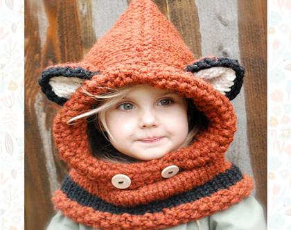 כובע צעיף מעוצב לילדים