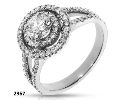טבעת אירוסין זהב ויהלוםים
