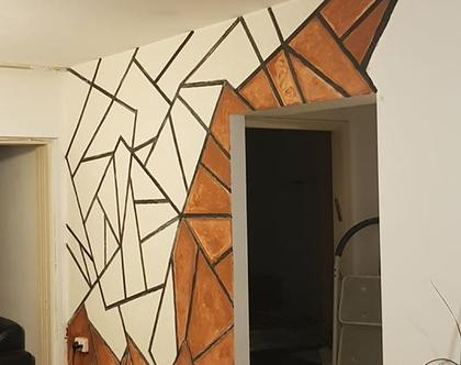 קיר דקורטיבי עבודת יד