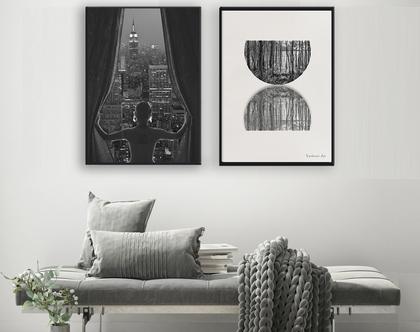 תמונות אבסטרקסט| Night view of Manhattan| תמונות שחור לבן | תמונות בעיצוב מקורי| תמונות שחור לבן | תמונות מינימליסטיות| תמונות אבסטרקטיות