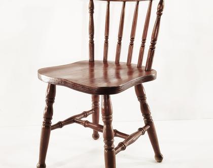 כסא עץ רוסטיקו