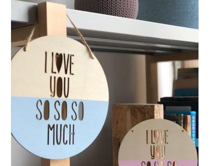 שלט מעוצב - LOVE U SO SO MUCH