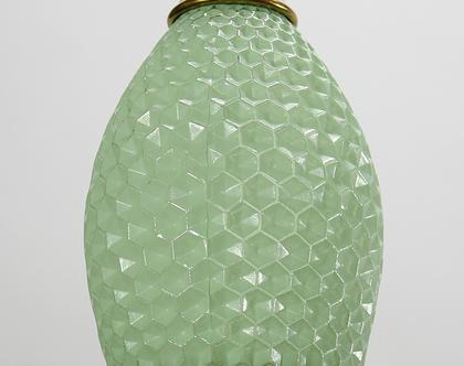 מנורת כוורת וינטאג׳ ירוקה, מנורת תקרה ירוקה, מנורה ירוקה