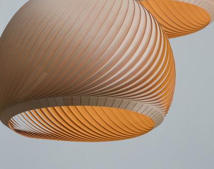 מנורת רוח מפורניר מייפל, מנורת תקרה, מנורת תלייה מפורניר, מנורת תקרה טבעית. אהיל פורניר.