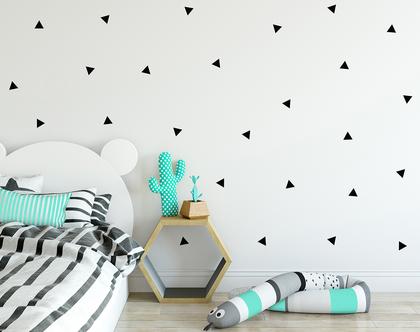 מדבקות קיר משולשים שחורים | מדבקות משולשים | מדבקות קיר משולשים | מדבקות משולשים לקיר | מדבקות קיר משולשים שחור | מדבקות קיר משולש
