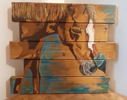 Human-Animal Bond - ציור מקורי על עץ
