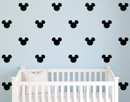 מדבקות מיקי מאוס שחור | מיקי מאוס | מדבקות לחדרי תינוקות | מדבקות לחדרי ילדים | מדבקות לחדר תינוקות | מדבקות לחדר ילדים
