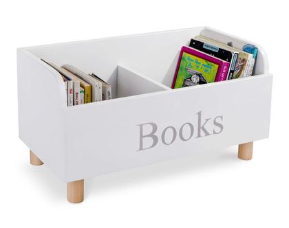 מעמד ספרים בצבע לבן