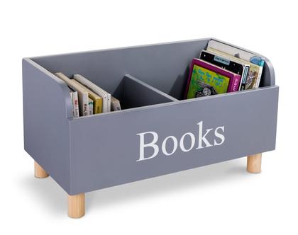 מעמד ספרים בצבע אפור